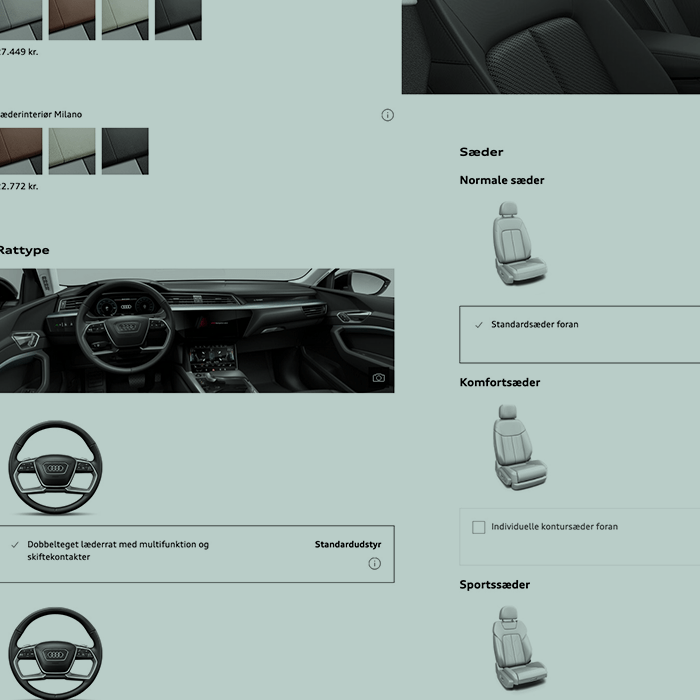 Screenshot Audi Konfigurator